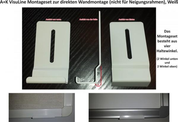 A+K VisuLine Montageset zur direkten Wandmontage