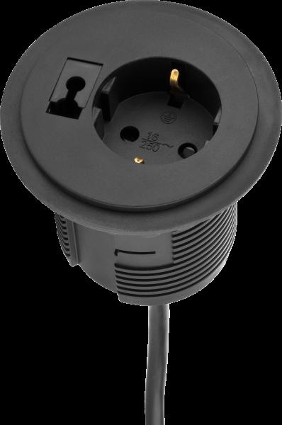 Filex - Power-Spot mit austauschbarem Kabeldurchführungsmodul