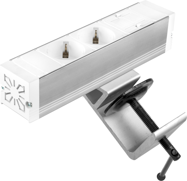Filex - Power-Desk-up® (2x 230V + 1x Keystone, GST18 - 20cm)