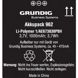Grundig GCM9620 Akkupack 962