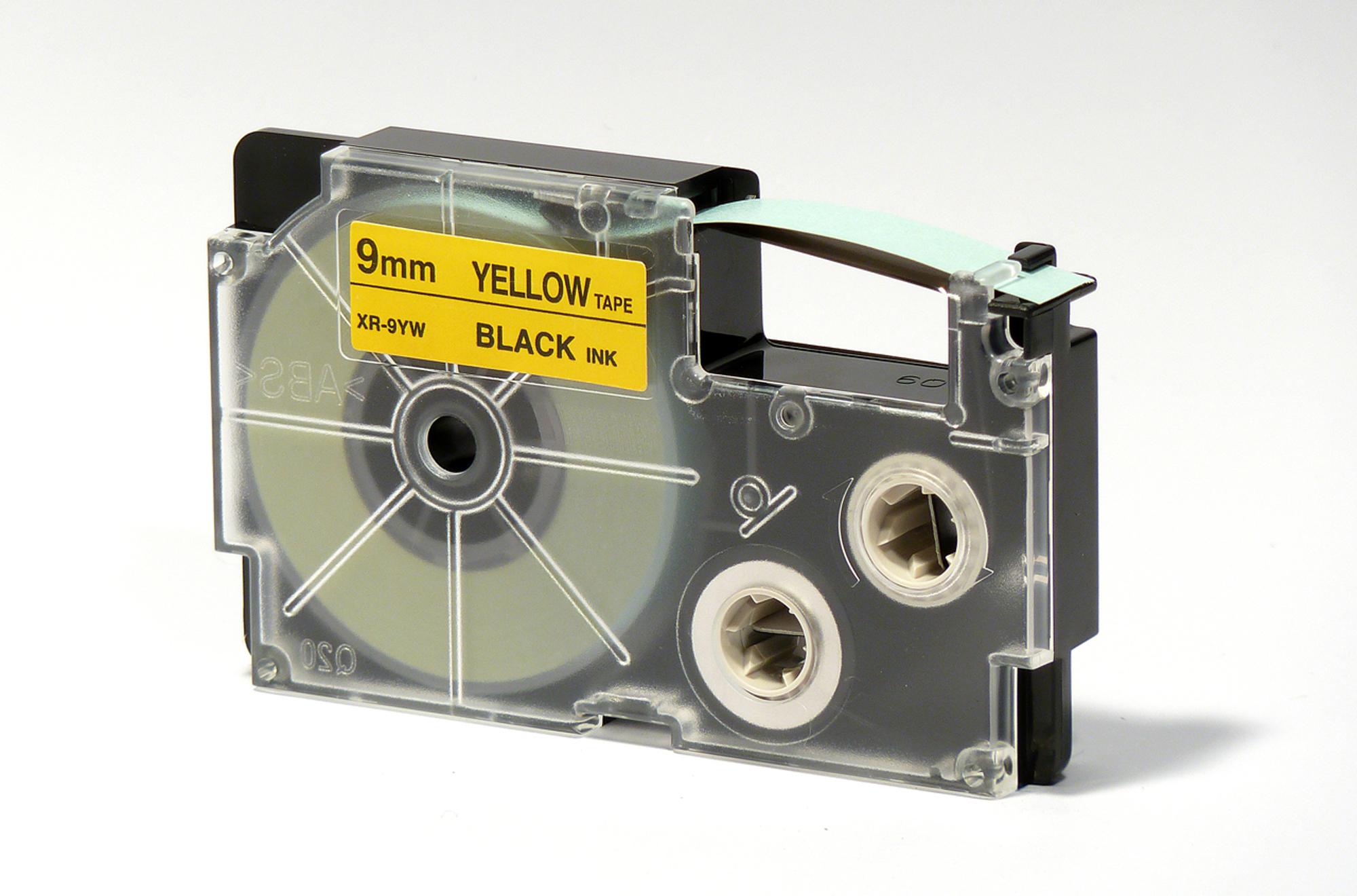 KL-7400 BESCHRIFTUNGSBAND 9mm SCHWARZ-GELB für CASIO KL-820