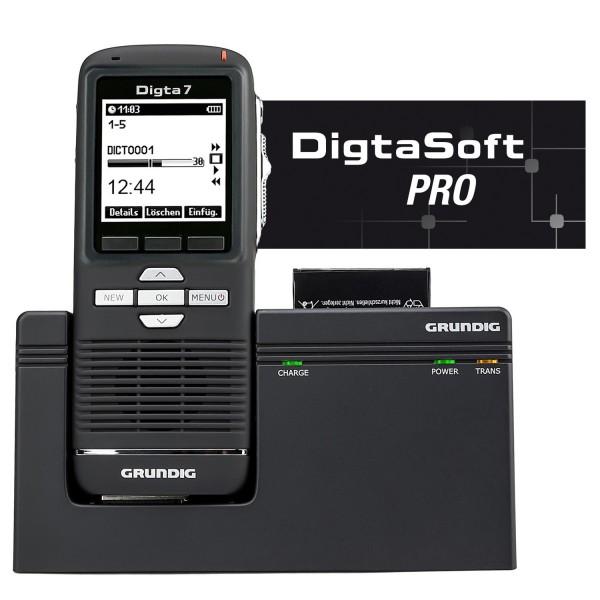Grundig SDM7032-22 Digta 7 Premium Set Plus mit DigtaSoft Pro