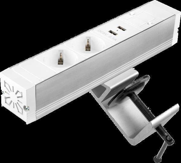 Filex - Power-Desk-up® (2x 230V + 2x USB Charge + 1x Keystone, GST18 - 20cm)
