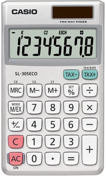 Casio SL-305ECO umwletfreundlicher 8-stelliger Taschenrechner