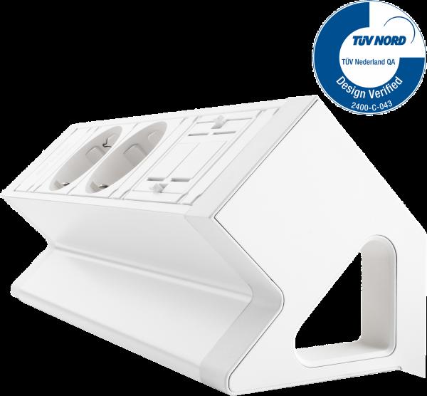 Filex - Power-Desk-up 2.0 (2x 230V + 1x Keystone)