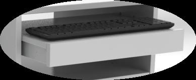 Medienwagen Freiburg Tastaturablage