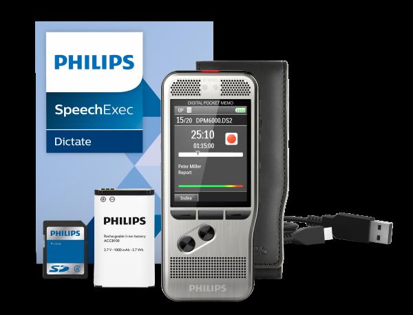 Digitales Handdiktiergerät Philips DPM 6000 mit Drucktasten