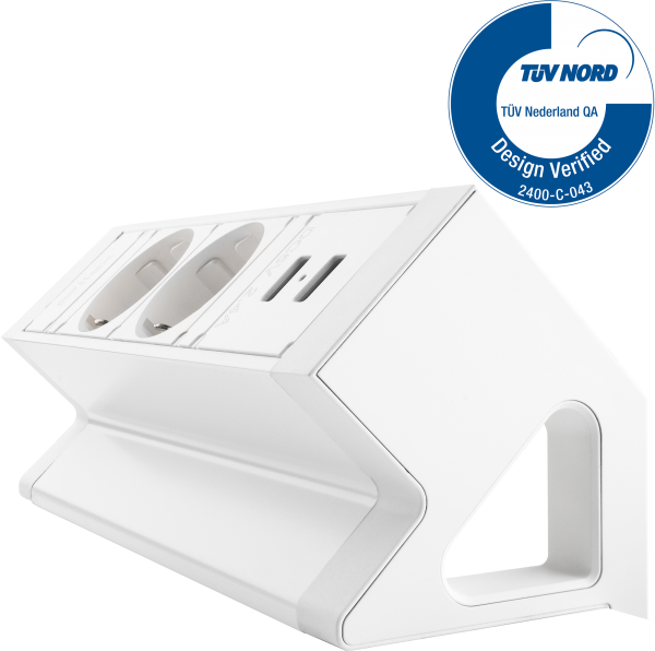 Filex - Power-Desk-up 2.0 (2x 230V + 2x USB Charger)
