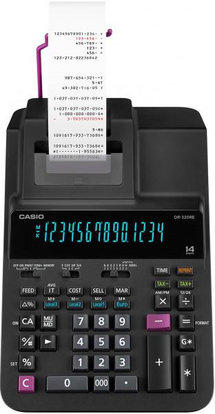 Casio DR-320RE, professioneller druckender Tischrechner mit Farbbandruck (zweifarbig)