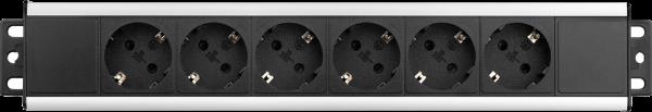 Filex - 6-polige Steckdosenleiste inkl. Montagewinkel