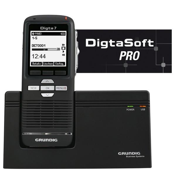 Grundig SDM7030-22 Digta 7 Premium Set mit DigtaSoft Pro